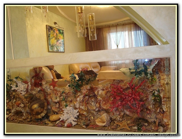 Имитация аквариума: мастер-класс