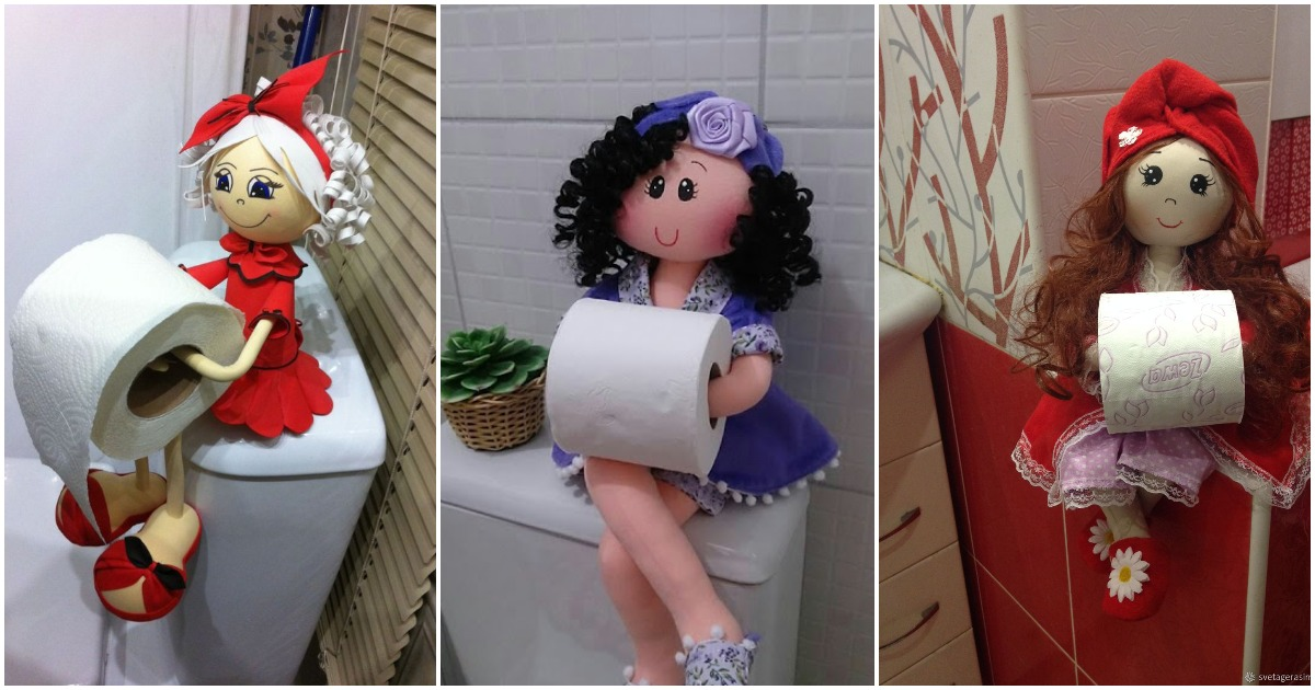 Оригинальные держатели для туалетной бумаги. Выкройка и мастер-класс