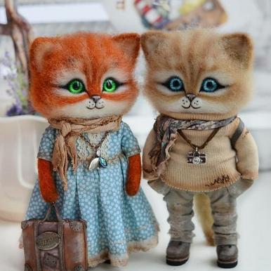 Вот таких милашек сотворили из шерсти. Какая фантазия и мастерство! handmake,куклы и игрушки,поделки своими руками