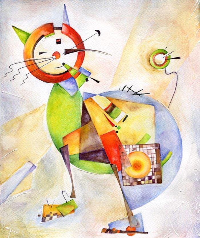 Веселый котогид по стилям живописи живопись