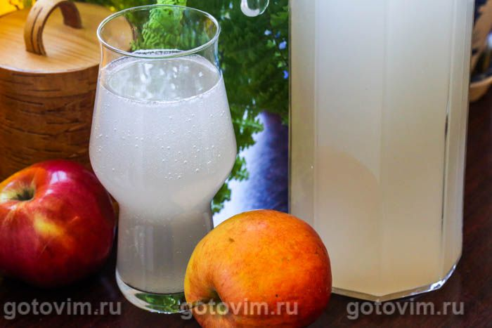 Яблочный квас. Фотография рецепта