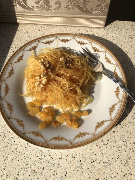 Рецепт десерта «Золотые нити Нефертити»