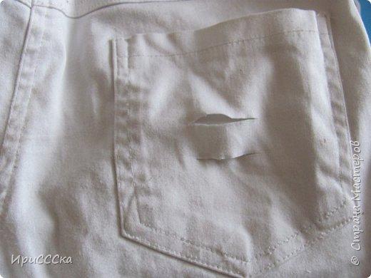 Будем делать модные рваные шорты из старых джинсов. фото 10