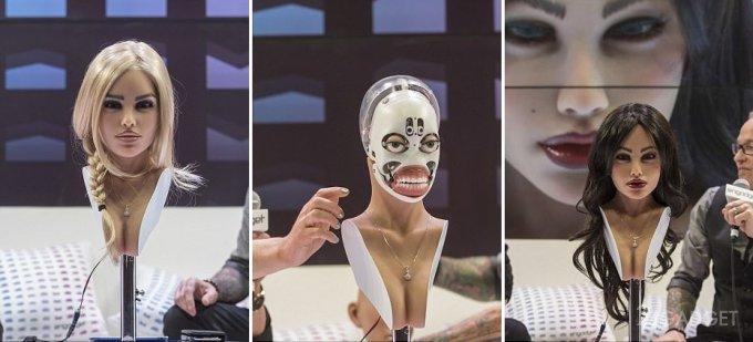 Секс-робота Гармонию во время презентации превратили в Солану (5 фото + 2 видео)