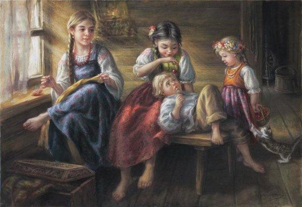 В древности детей пестовали. Это сейчас их воспитывают, взращивают, обучают и обихаживают... отдых