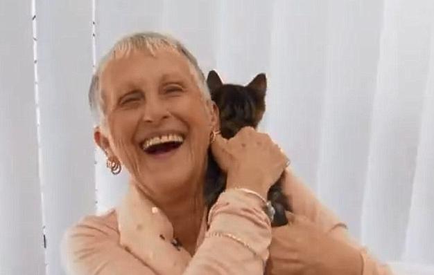 кошка с женщиной