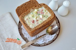 Окрошка в хлебе - фото шаг 6