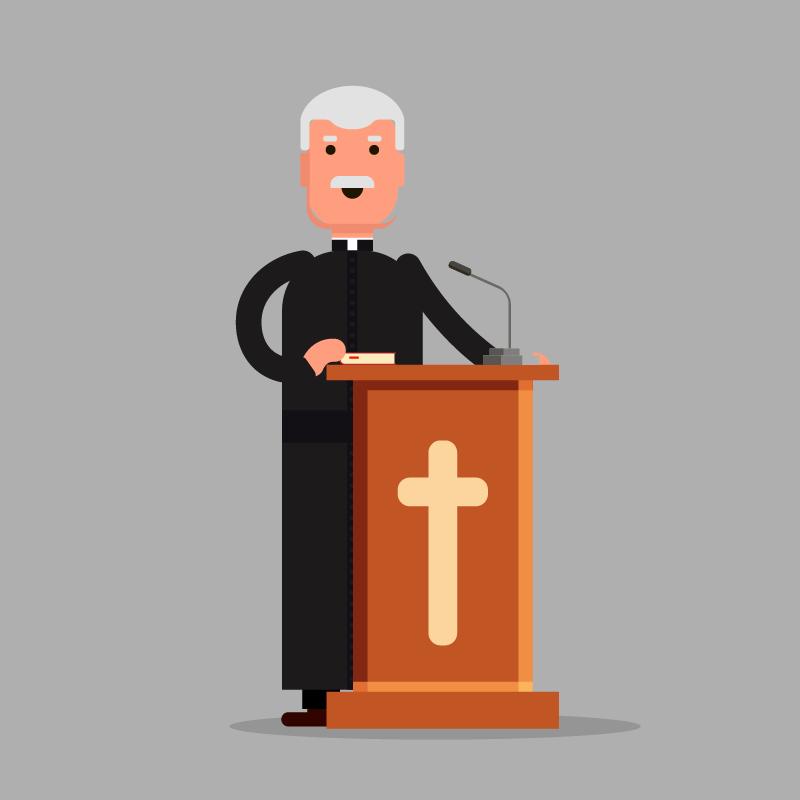 Анекдот о церковной службе для одного-единственного прихожанина