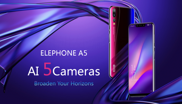 Пятикамерный смартфон Elephone A5 оценили в $230