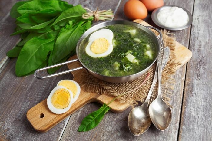 Весенний суп со щавелем. \ Фото: anews.com.
