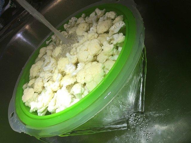 промывка цветной капусты