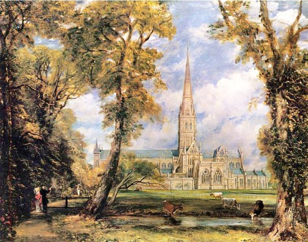 Солсбери на картинах известнейшего английского пейзажиста Джона Констебля. Тот самый Солсбери, между прочим!