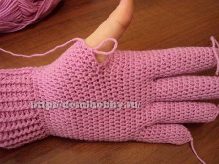 ажурные перчатки крючком для начинающих схемы