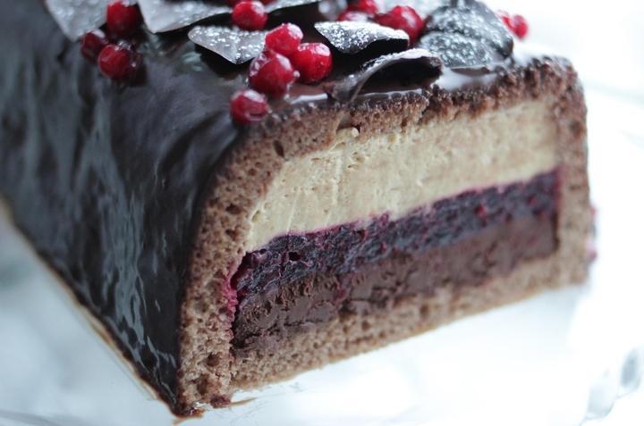 Торт «Рождественское полено» фото