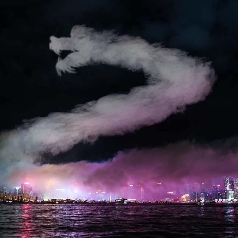 11. В этом году Танец Огненного Дракона выглядел куда более впечатляюще, чем когда-либо! Томми Фанг, гонконг, забавно, талант, фантазия, фото, фотошоп, художник