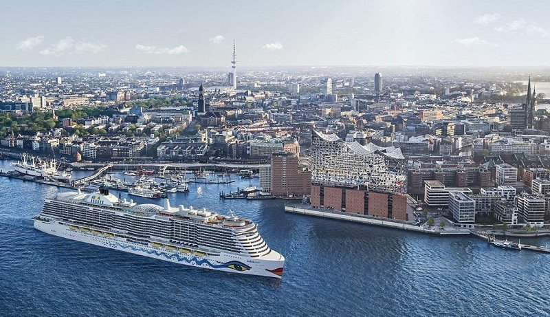 Особенностью лайнера является использование в качестве топлива сжиженного природного газа AIDAnova, carnival, ynews, германия, корабль, лайнер, мир, новости