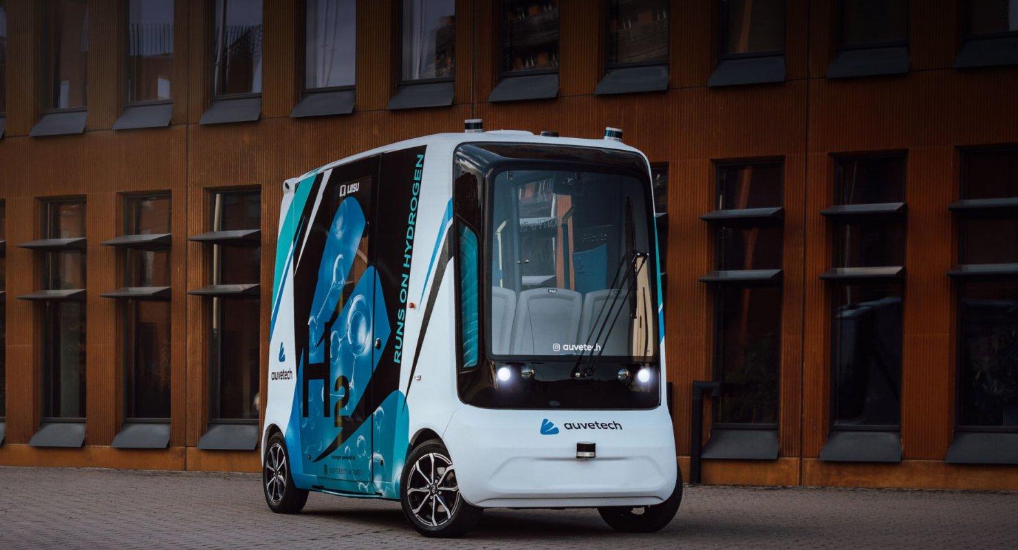 Auve Tech Liisu представил водородный беспилотный автомобиль Автомобили