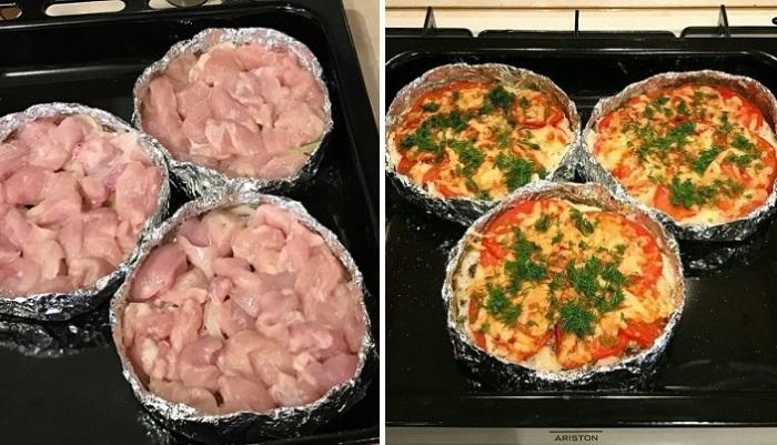 Филе курицы, запеченное в духовке.
