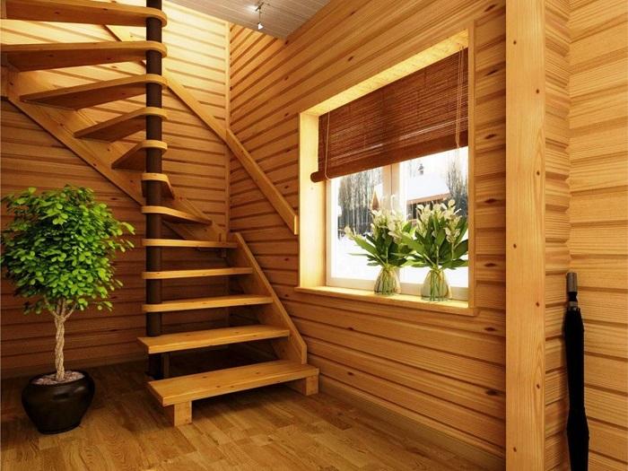 Спиральная лестница с лаконичным дизайном и металлическим основанием может стать настоящей изюминкой в интерьере.
