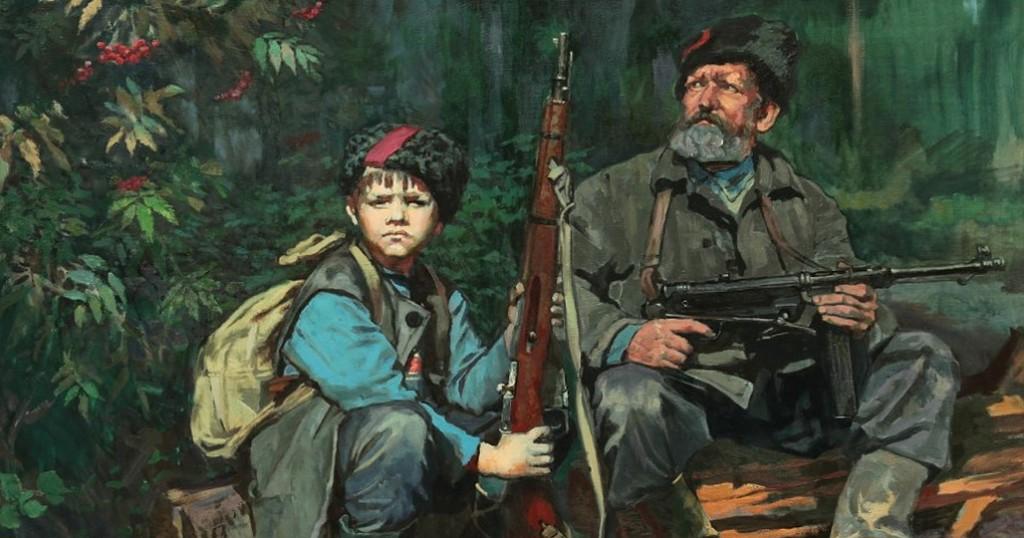 ..В далеком 1945-м белорусский народ отстоял свою независимость с оружием в руках...