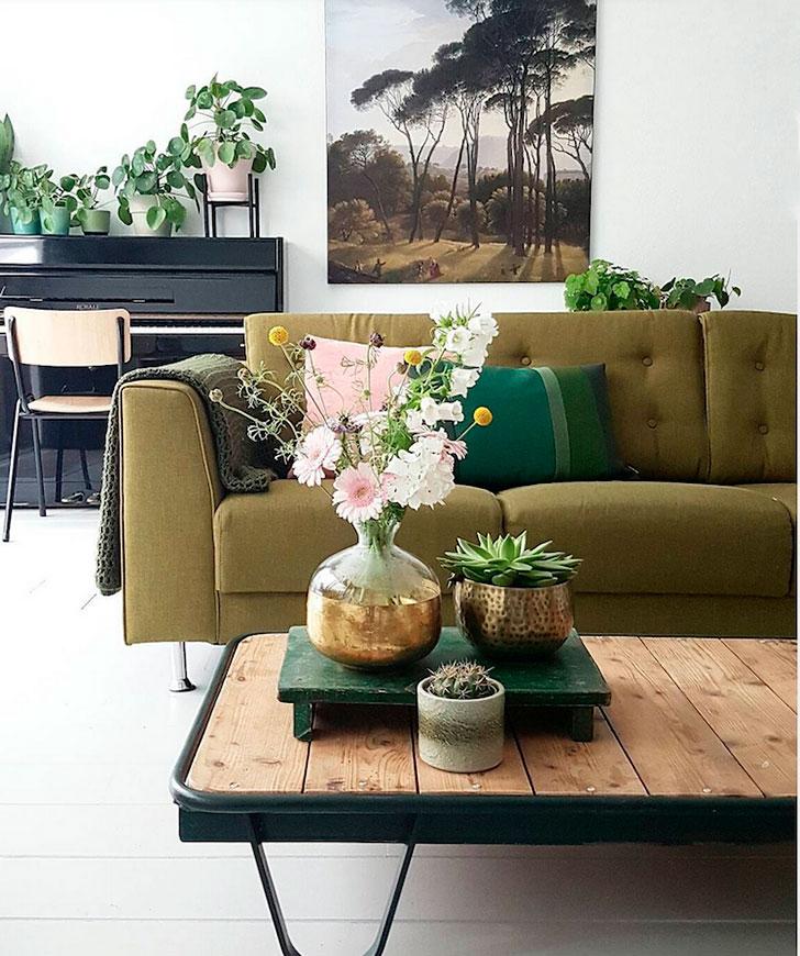 Мир флоры: голландская квартира полная цветов и зелени