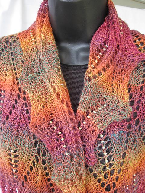 вязание спицами с бисером
