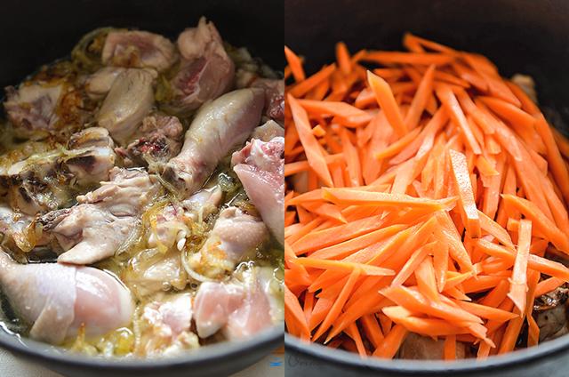 Воскресный плов товук из риса арборио блюда из курицы,кухни мира,плов,узбекская кухня