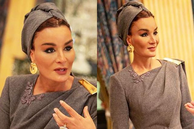 Шейха Моза в костюме от Ульяны Сергеенко посетила торжественный обед