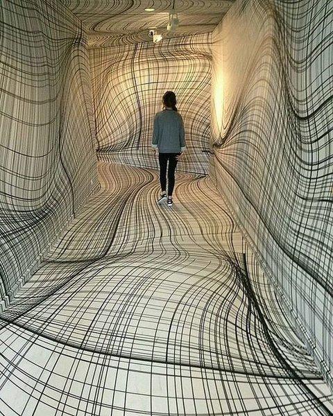 Психоделические помещения, в которые лучше не попадать после вечеринки. Работы Peter Kogler инсталляции, искусство, психоделика, сломай мозг, странное, художники