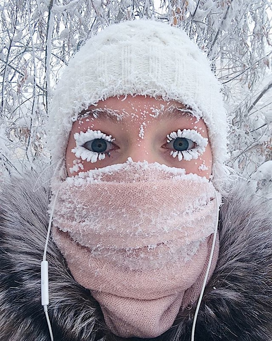 """Дивное фото """"Снегурочки"""" из Оймякона растиражировали западные СМИ"""