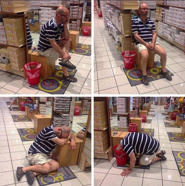 28 фотографий мужчин, чья сила воли закалялась в магазинах