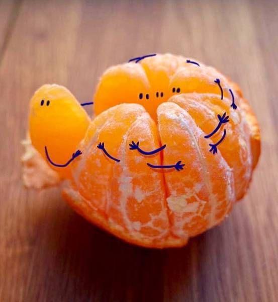 Сердечки, апельсины веселые картинки