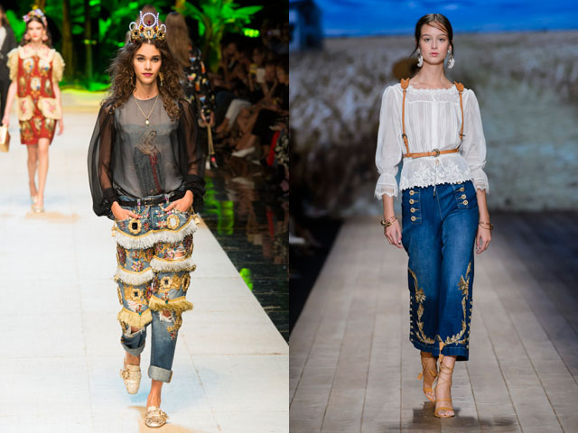 Декор в модных джинсах 2018