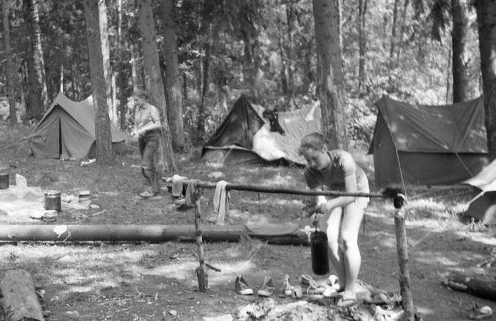 Школьный турпоход во времена СССР туризм