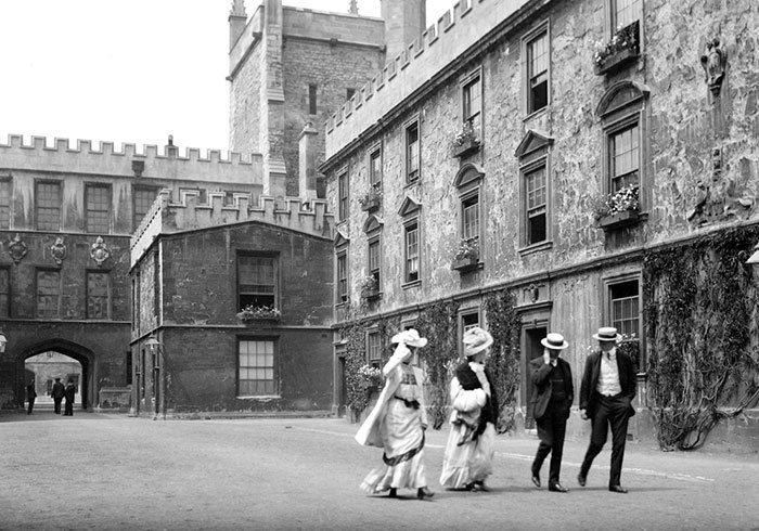 Оксфорд, Англия ХХ век, винтаж, восстановленные фотографии, европа, кусочки истории, путешествия, старые снимки, фото