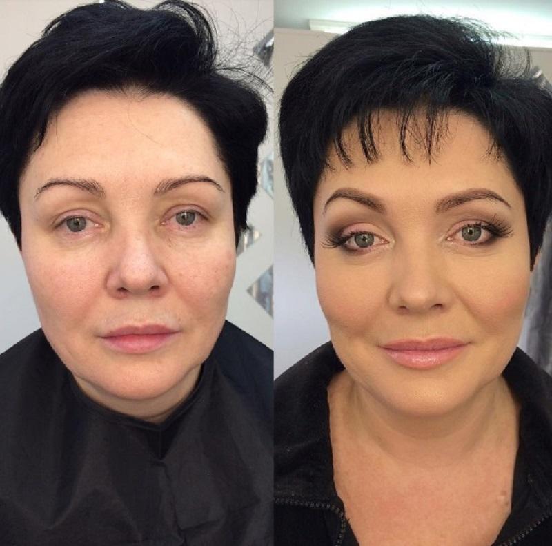 выгорания возрастной макияж до и после фото смерти было заражение