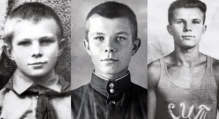 Юрий Гагарин в детстве и юности.