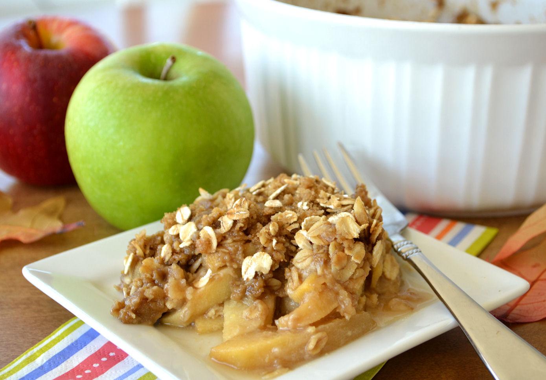 Крисп с яблоками - простая выпечка с хрустящей корочкой