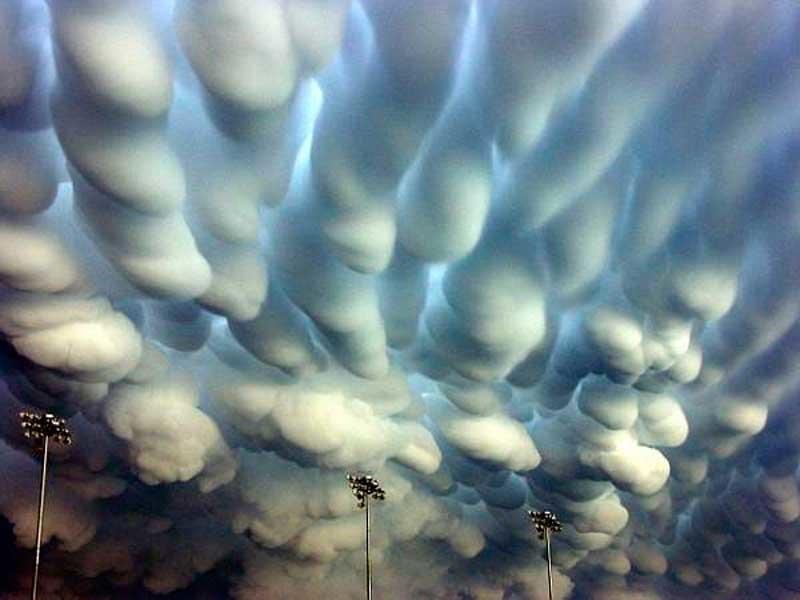 Трубчатые облака природа, природные явления, удивительная природа