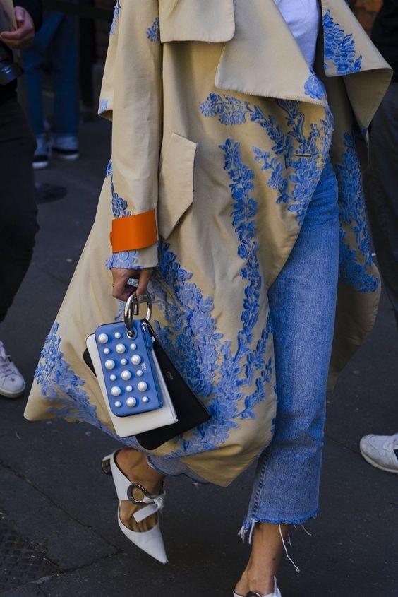 Новый тренд сезона: пальто с вышивкой гардероб,красота,мода и красота,модные образы,модные советы,модные тенденции,одежда и аксессуары,стиль,стиль жизни,уличная мода,фигура