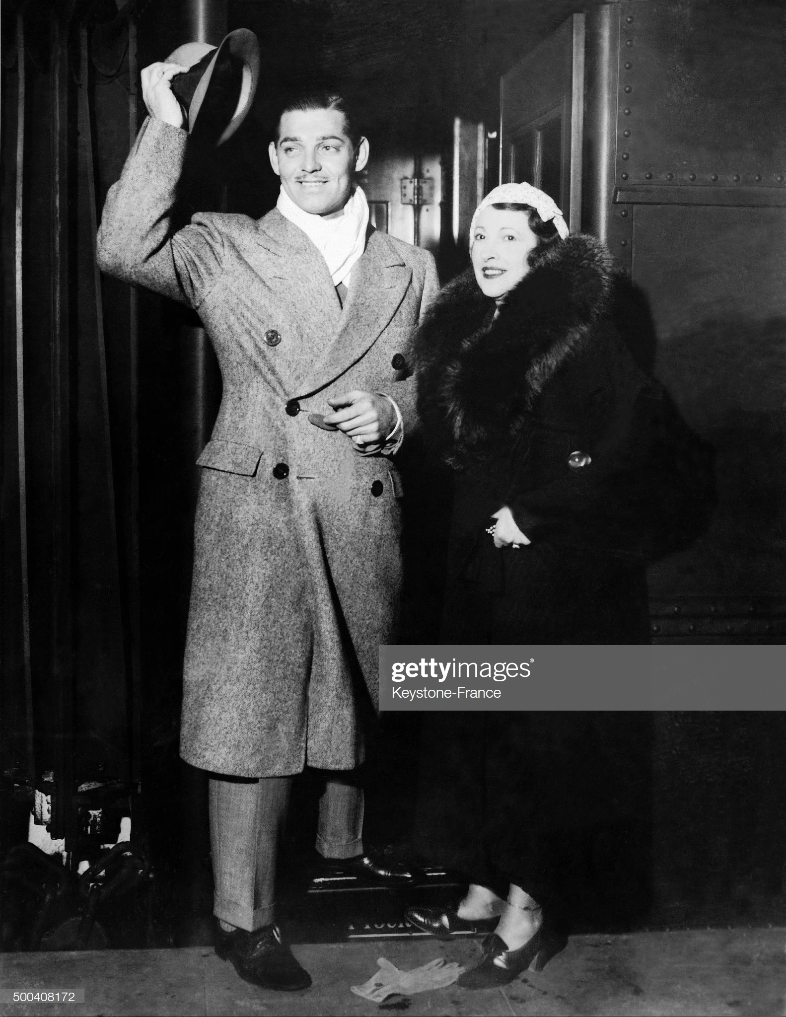 Clark Gable And His Wife Maria Langham, 1934 : News Photo
