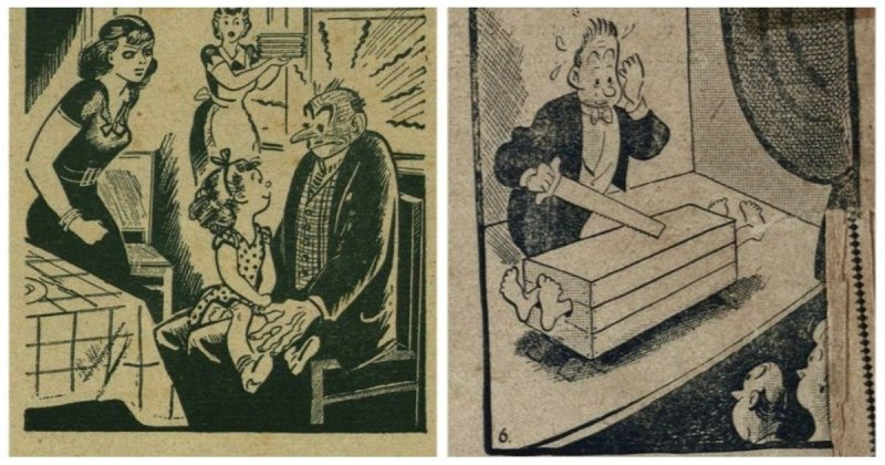 Юмор прошлого века: 30 иллюстраций, показывающих над чем смеялись наши предки