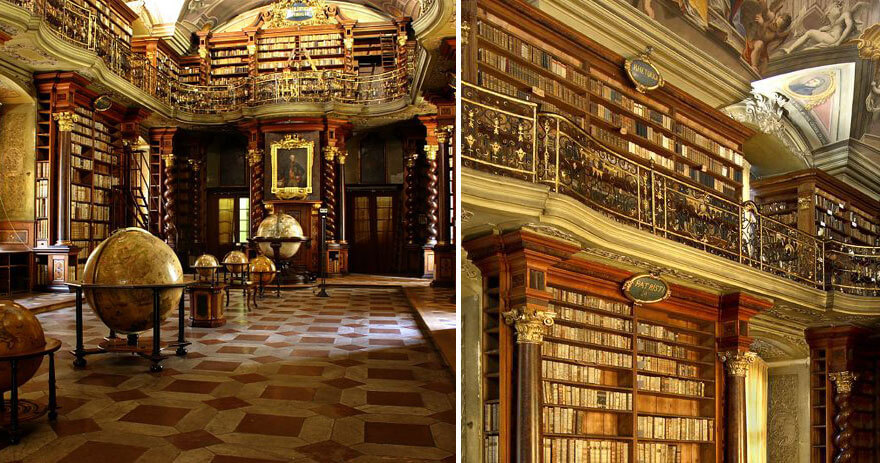 Прогулка по самой красивой библиотеке в мире