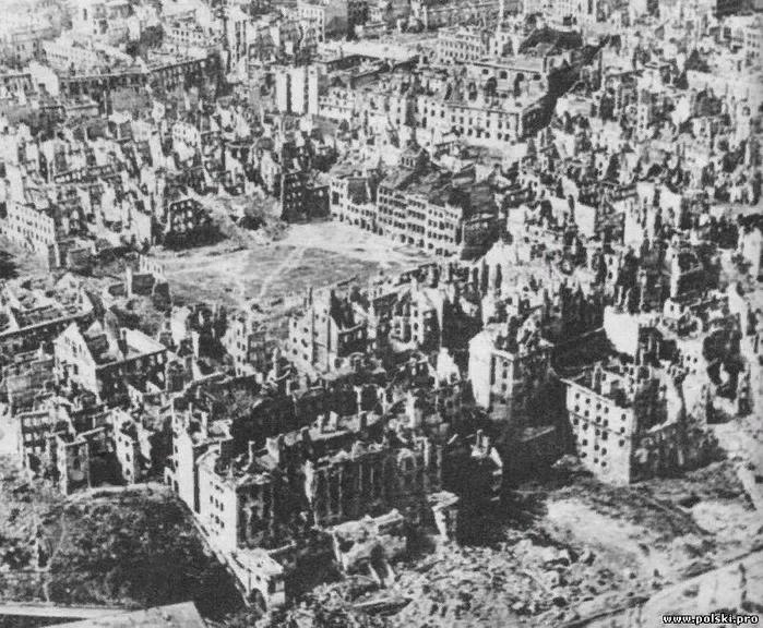 Варшава в январе 1945-го – Старый город после Варшавского восстания