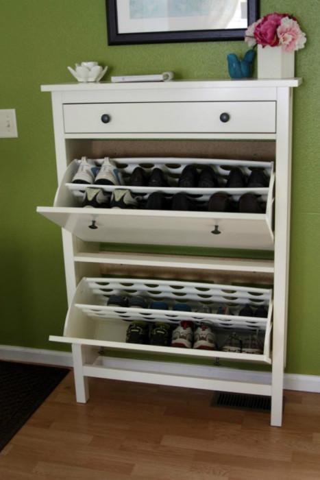 Удобные полки для хранения обуви