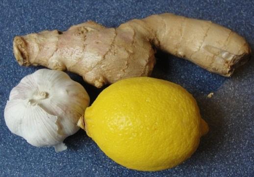 Чеснок с лимоном и мёдом для очистки