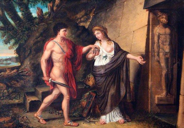 Ричард Уэстолл «Тесей и Ариадна перед входом в лабиринт»