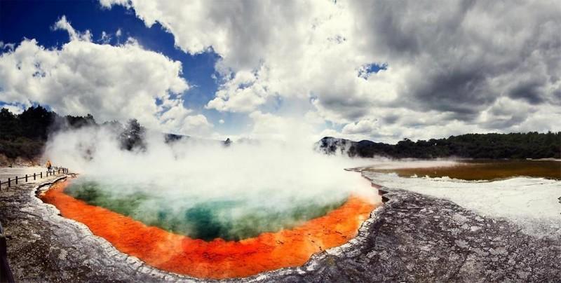 5. Геотермальная область Вай-о-Тапу. красивые места, прекрасная планета, чудеса природы