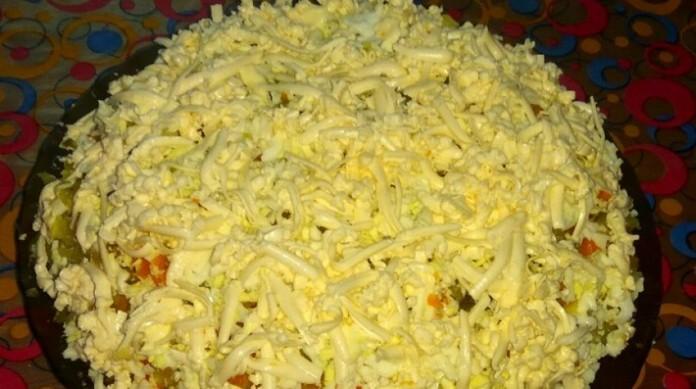 Овощной тёртый салат с плавл…