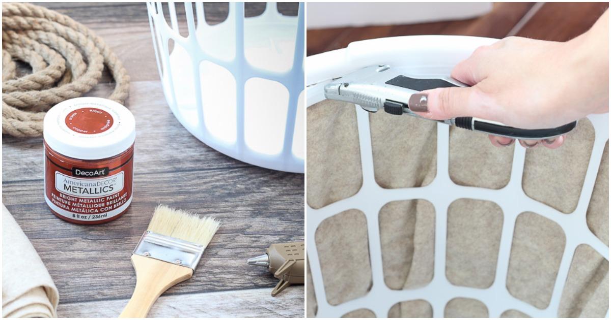 Из простой корзины для мусора и веревки можно сделать практичную вещь